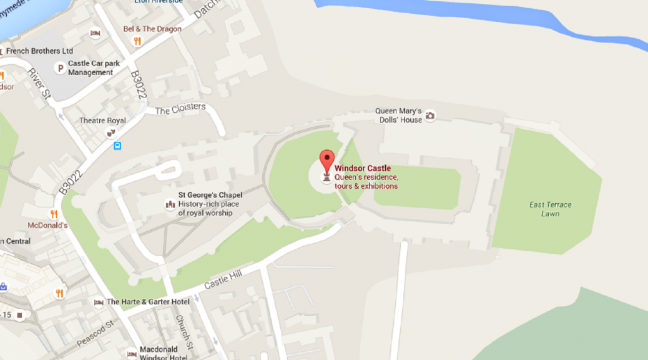 Windsor Castle Location Map Guess who the little Google Maps man turns into when you search