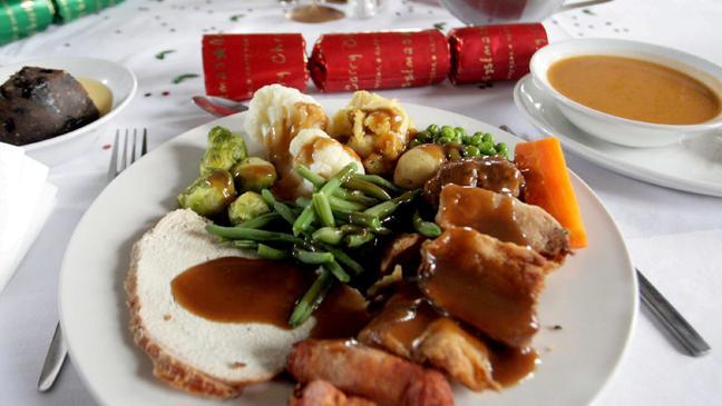 share this - British Christmas Dinner