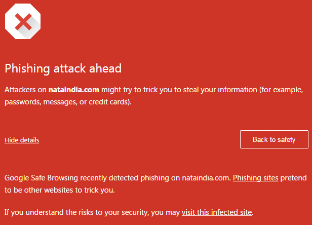 Website hacking warning