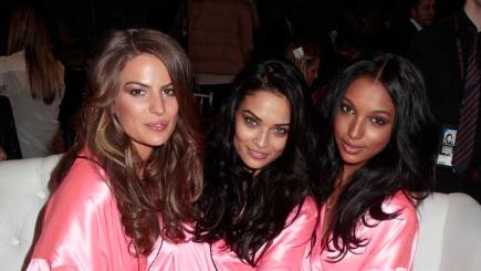 Victoria's Secret models backstage