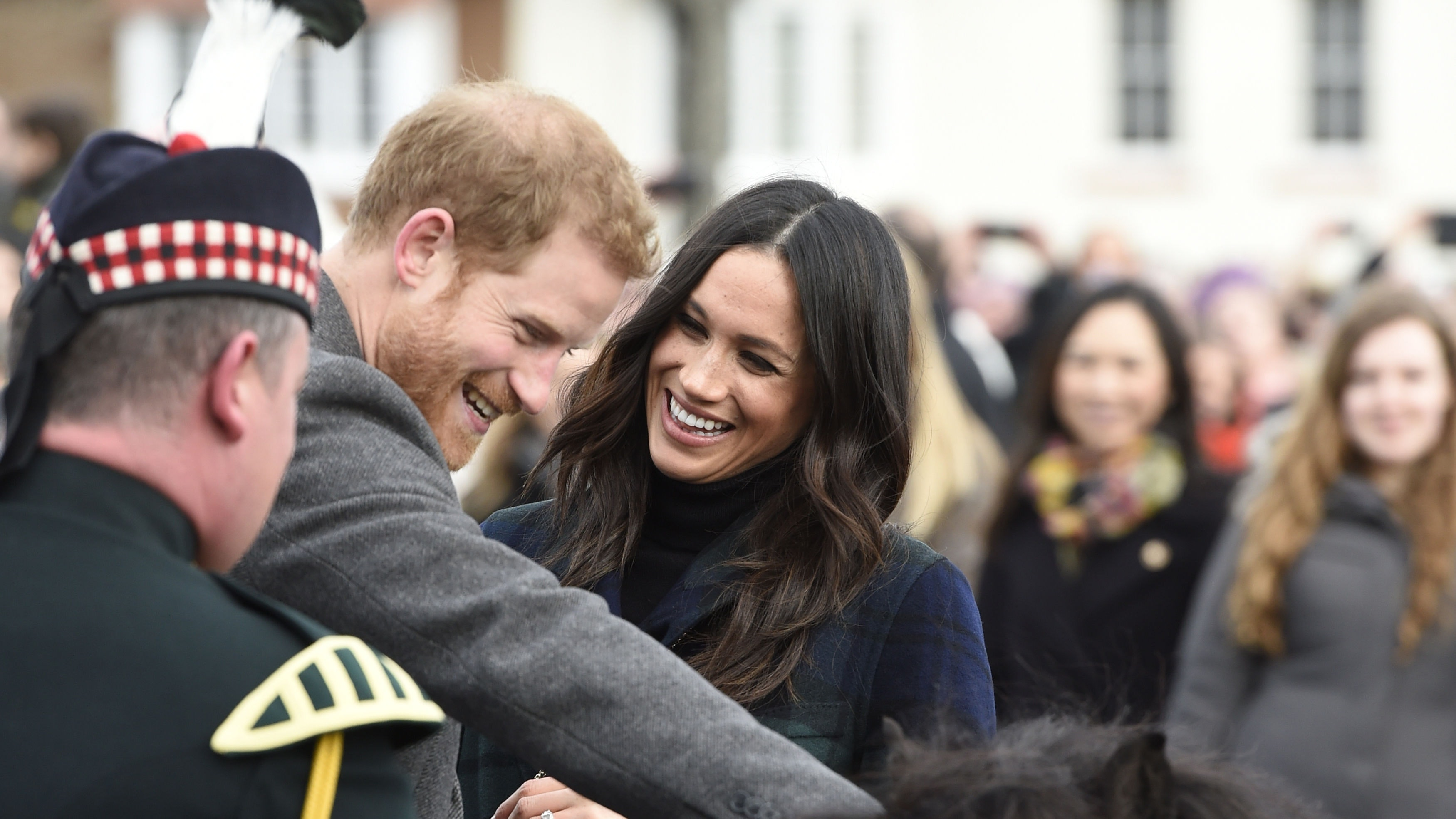 Harry And Meghan Warmly Welcomed At Edinburgh Castle By Crowds
