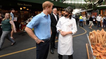 One can meet: Prince Harry lit up the London market