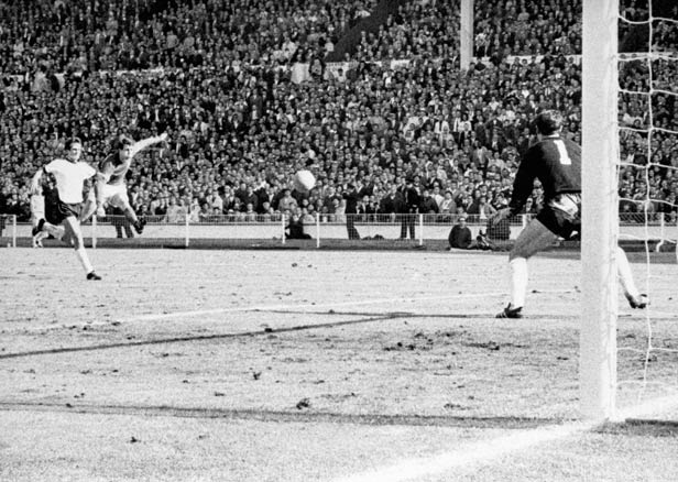 Geoff Hurst scored England's fourth goal - and his third.