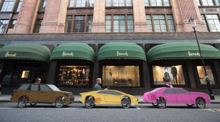 Have you spotted these mini soapbox supercars cruising past Harrods?