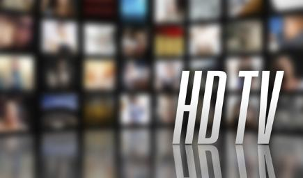 HD TV logo with TV screens