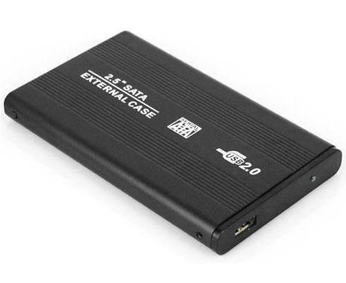 Laptop hard drive caddy