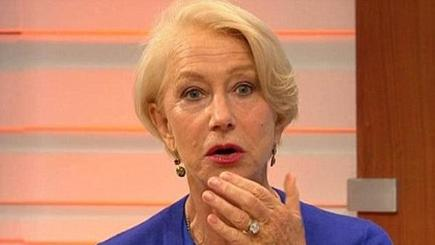 Dame Helen Mirren swears on morning TV