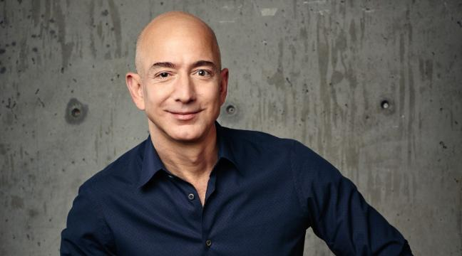 Here S Jeff Bezos Trying Out An Enormous Robot Because Billionaires