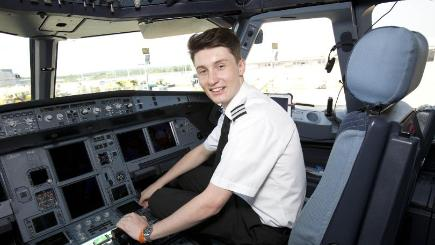 Luke Elsworth, 19, was offered a job with easyJet after taking one of the fastest possible routes to becoming qualified (EasyJet/PA)