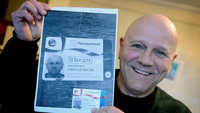 Photocopied A - Bt To Travels Bus Uk Pass Using Back Pensioner