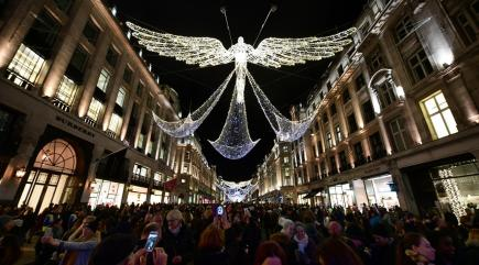 Holly Willoughby Sets Regent Street Aglow At Christmas Lights Switch On