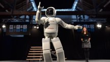 Asimo makes its UK debut at the Wired Conference in London