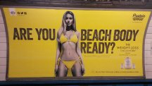 "More than 40,000 people have signed a petition calling for the removal of an advertisement which asks ""Are you beach body ready?"""