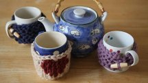 How to knit a mug cosy