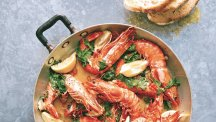 How to make Gennaro Contaldo's king prawns and crab with garlic and chilli