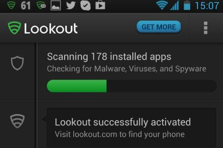 Launch Lookout and run a virus scan