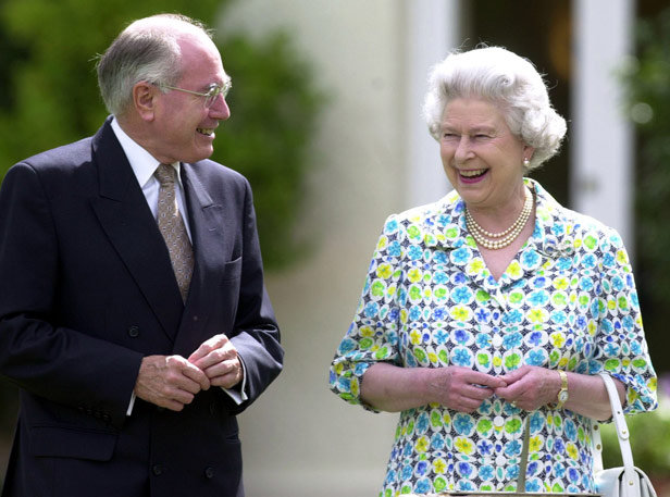 Australian Prime Minister John Howard with the Queen on her visit to Canberra four months after the referendum.