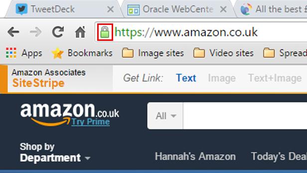 Shop on secure websites