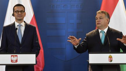 Hungarian and Polish leaders see anti-immigration stance spreading in EU