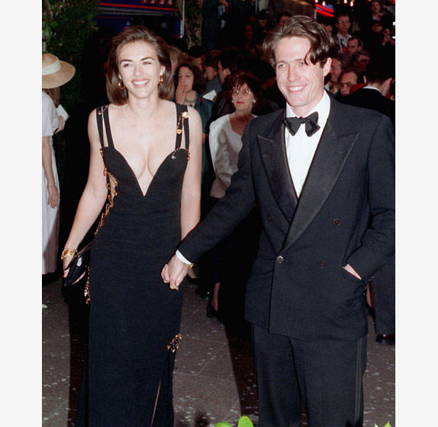 Liz Hurley in the Versace dress which made her famous.