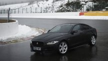 Jaguar XE at the Spa Francorchamps circuit