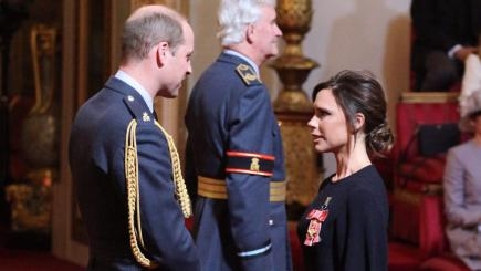Victoria receives OBE from Prince William