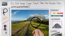 Image editing software interface