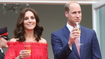 In pictures:  Kate and William toast the Queen's birthday in Berlin