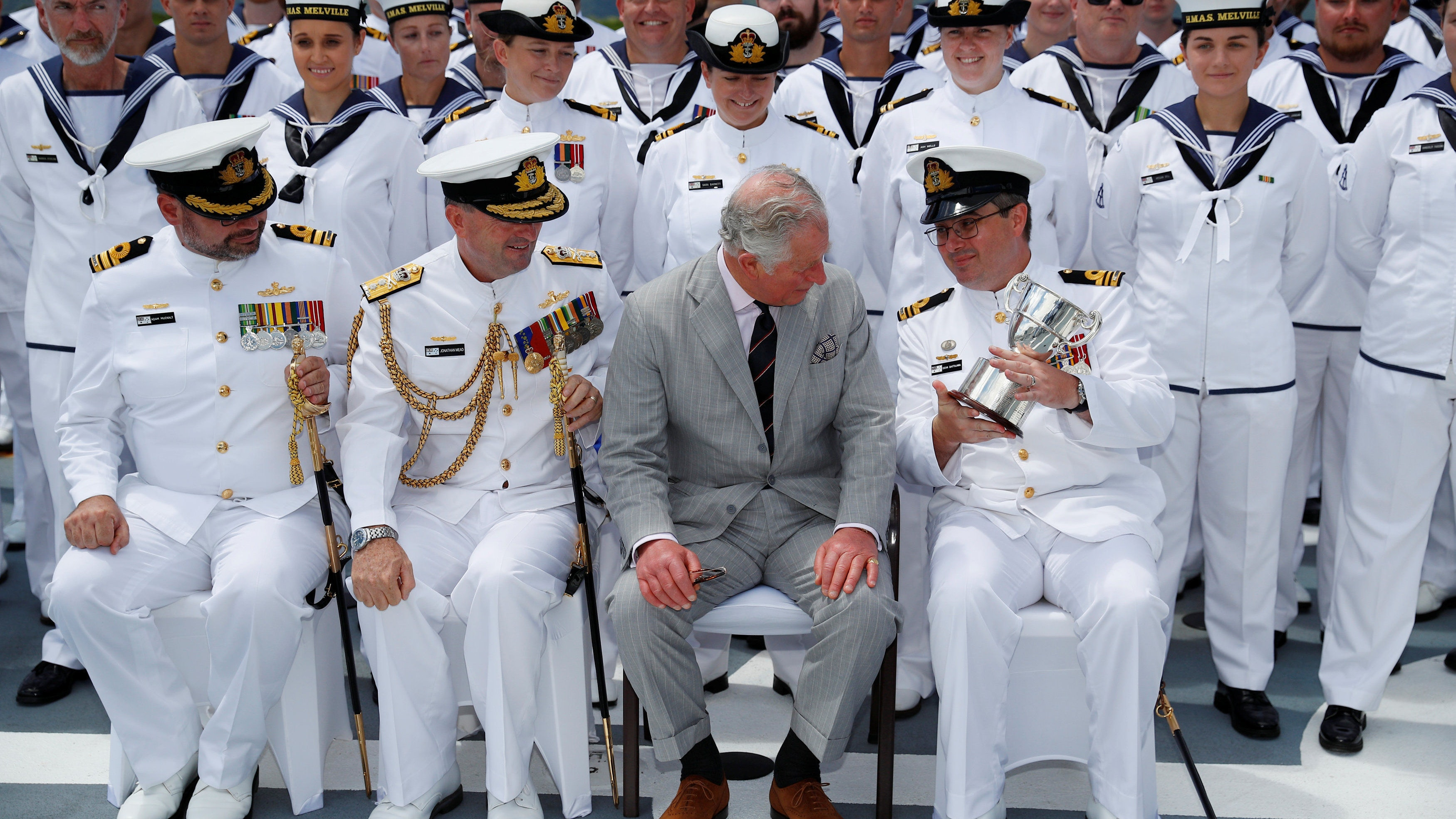 In Pictures: Charles on board with Royal Australian Navy | BT