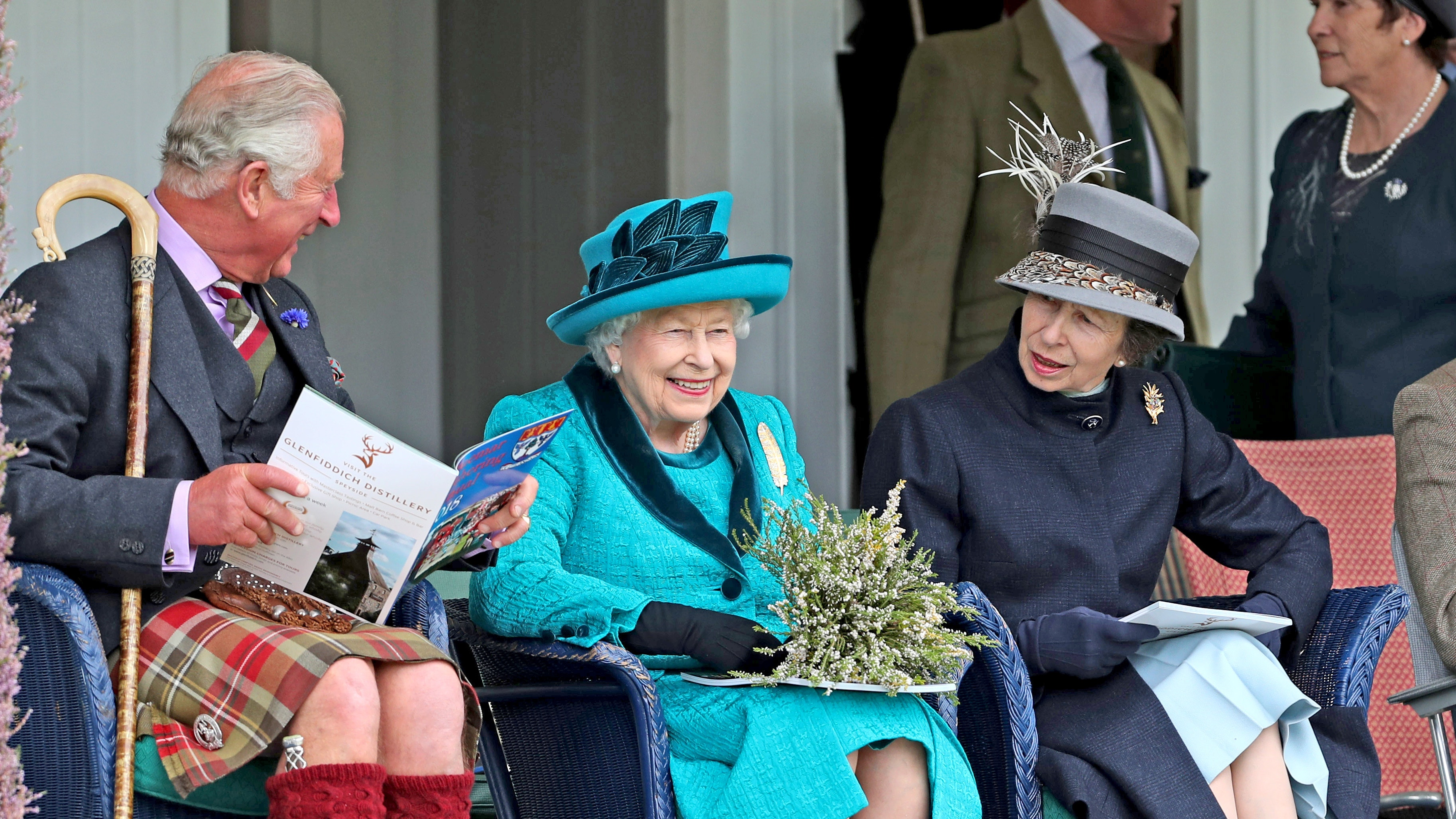 Family day out for Queen, Charles and Anne at Braemar Gathering