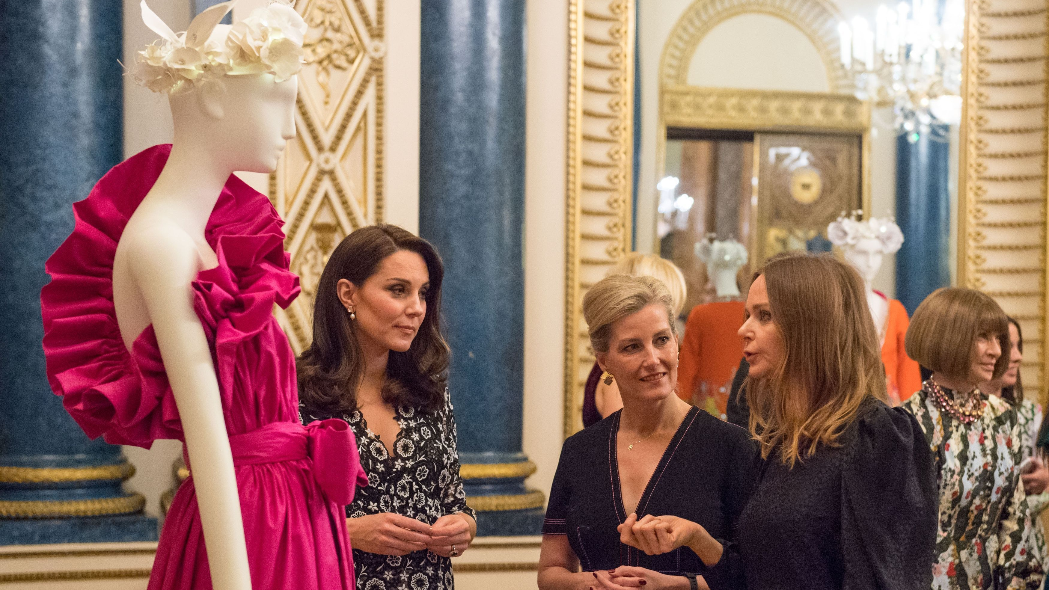 Kate Middleton Hosts Commonwealth Fashion Exchange Reception at Buckingham Palace