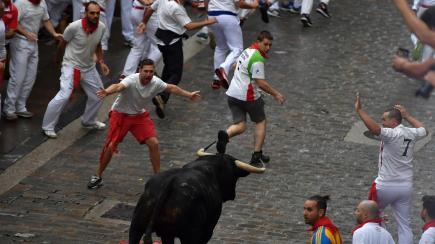 In pictures pamplona revellers lock horns with fighting - Zara home pamplona ...