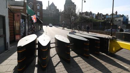 Anti-terror barriers to protect Changing of the Guard at Windsor Castle