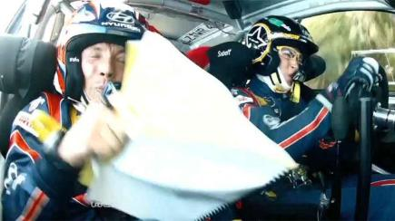 Incredible on-board footage of huge rally crash