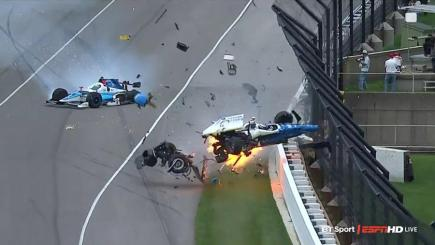 IndyCar stars walk away from high-speed crash