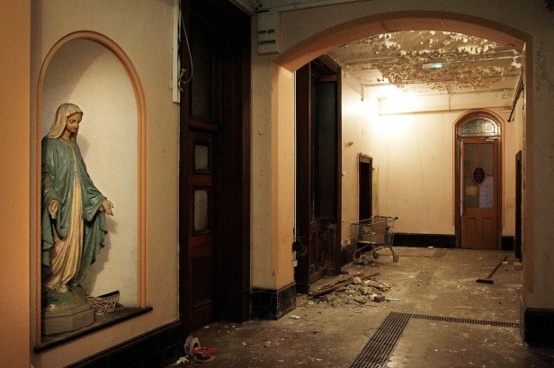 The interior of the now derelict Sisters of Our Lady of Charity Magdalene Laundry taken in 2013.