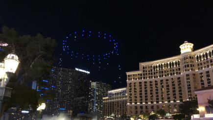 Intel flies 100 'shooting star' mini drones for light show