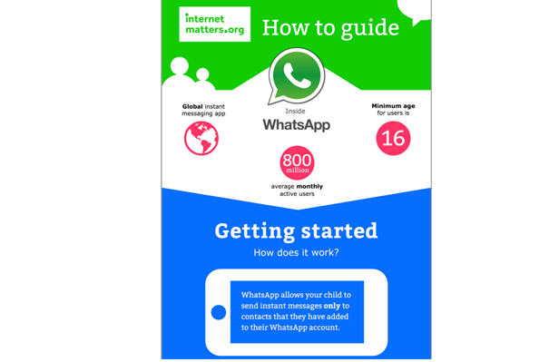 Internet Matters infographic WhatsApp