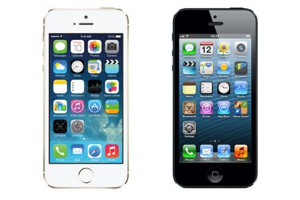 iPhone 5S gold VS iPhone 5 black