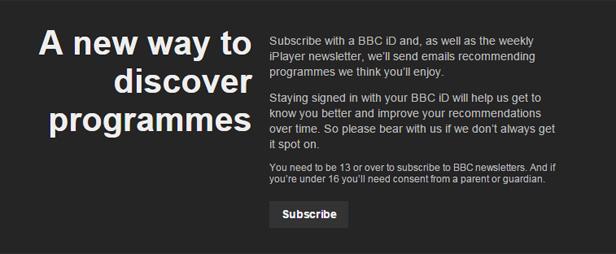 BBC iPlayer sign in