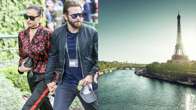 Irina Shayk and Bradley Cooper, River Seine