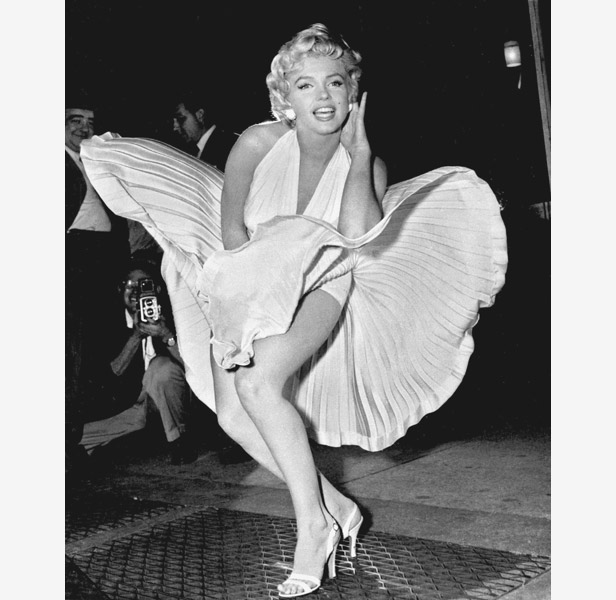 Marilyn's iconic pose for the film The Seven Year Itch led to a bust-up with husband Joe DiMaggio.