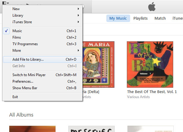 iTunes music sync 01