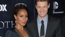 Jada Pinkett Smith and Ben McKenzie at the Gotham series premiere event at the New York Library