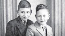 James Roffey (right) with brother John in a photograph sent with a Christmas card to their parents in 1943