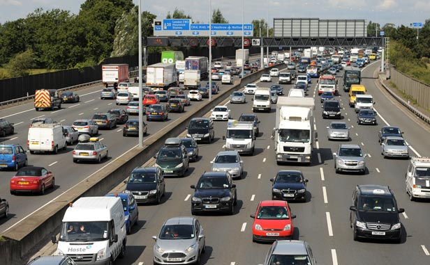Carrying up to 200,000 cars a day, the M25 is Britain's busiest motorway.