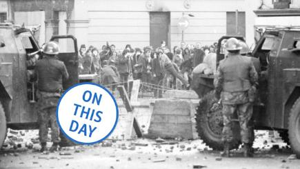 Soldiers face rioters