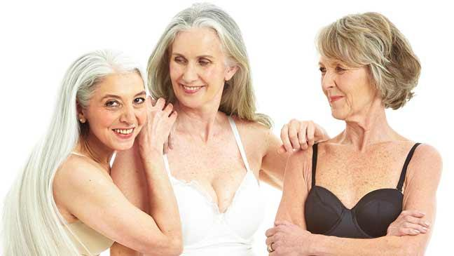 over-50 shades of grey: older women pose in lingerie for convention