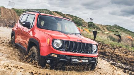 Jeep Renegade tackling a Tough Mudder challenge
