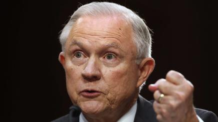Attorney General Jeff Sessions says he was never briefed on Russia probe
